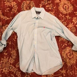 Ralph Lauren Blue/White button down